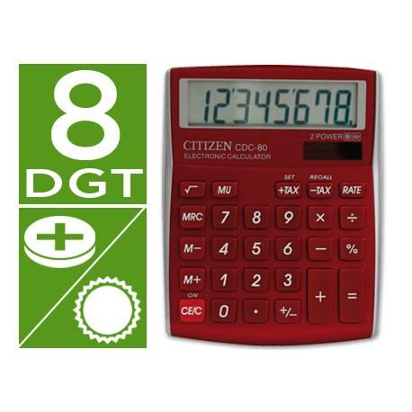 Calculadora Sobremesa Citizen Modelo CDC-80RDWB 8 digitos
