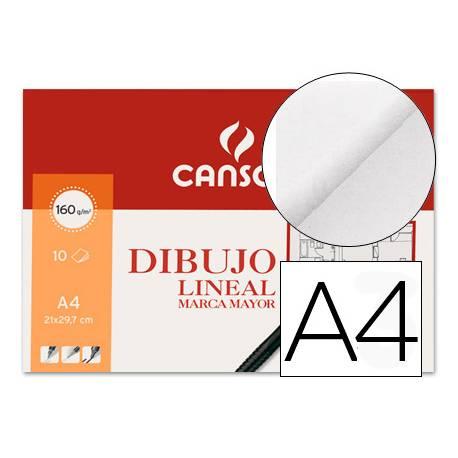 Papel dibujo Canson 160 g/m2 tamaño Din a4 lamina lisa