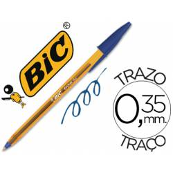 Boligrafo Bic Cristal Naranja color azul 0,30 mm