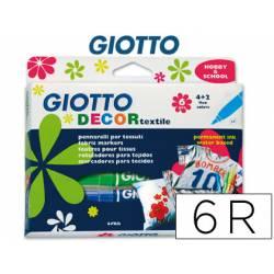 Rotuladores Decor Textil Giotto Punta Gruesa Caja de 6 unidades