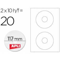 Etiquetas adhesivas para CD/DVD marca Apli