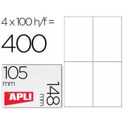 Etiquetas Adhesivas marca Apli 105 x 148 mm