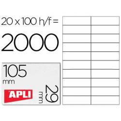 Etiquetas Adhesivas marca Apli 105 x 29 mm