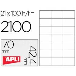 Etiquetas Adhesivas marca Apli 70 x 42,4 mm