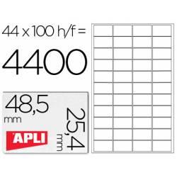 Etiquetas Adhesivas marca Apli 48,5 x 25,4 mm