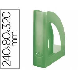 Revistero Liderpapel verde translucido
