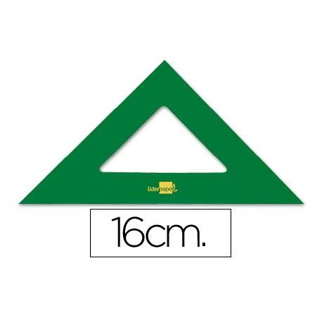 Escuadra acrilica marca Liderpapel 16 cm