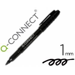 Rotulador Q-Connect permanente color negro para CD/DVD de punta redondeada 1mm