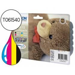 Cartucho Epson T061540 Tricolor + Negro