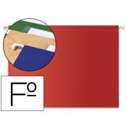 Carpeta colgante marca Liderpapel Folio Kraft rojo