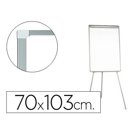 Pizarra Q-Connect trípode magnética con marco gris 70x103 cm
