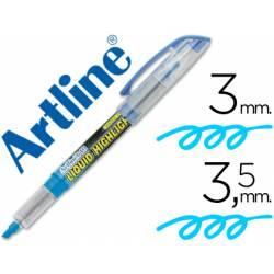 Rotulador Artline EK-640 Fluorescente color Azul Punta biselada