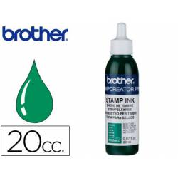 Tinta Brother Verde para sellos automaticos de 20 cc