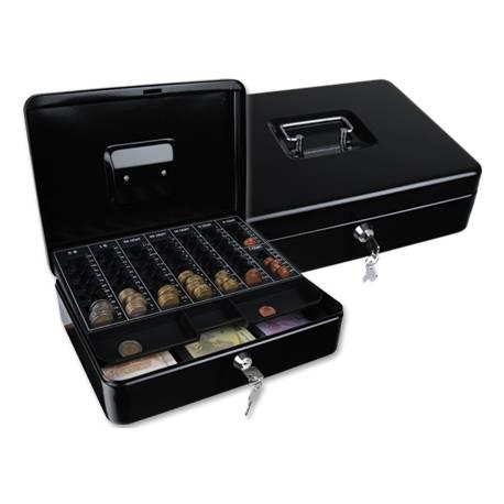 Caja con bandejas portamonedas y billetes Q-Connect