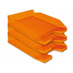 Bandejas sobremesa plastico Q-Connect color Naranja transparente