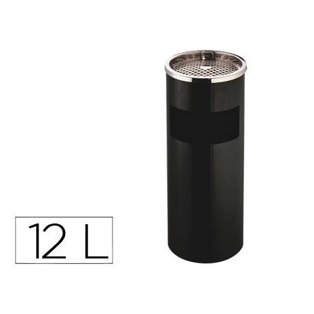 Cenicero papelera Q-Connect 12 L metal