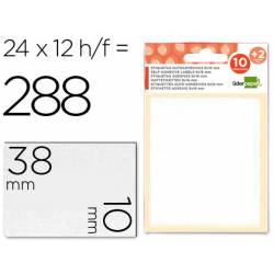 Etiquetas Adhesivas marca Liderpapel Obsequio 10x 38 mm