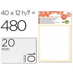 Etiquetas Adhesivas marca Liderpapel Obsequio 10 x 20 mm