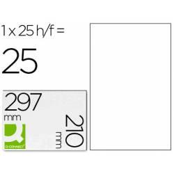 Etiquetas Adhesivas marca Q-Connect Transparentes A4