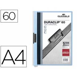 Carpeta dossier con pinza central duraclip Durable 60 hojas Din A4 color azul
