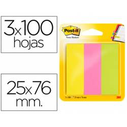 Bloc quita y pon Post-it ® neon mininotas