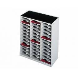 Modulo Paperflow monobloques 36 casillas gris.