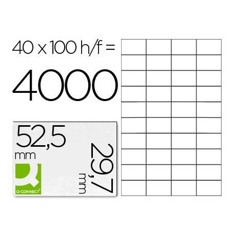 Etiquetas Adhesivas marca Q-Connect 52,5 x 29,7 mm