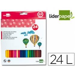 Lapices de colores Liderpapel hexagonal caja 24 Unidades