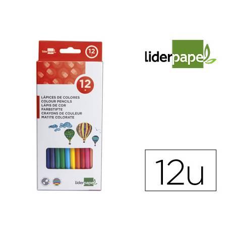 Lapices de colores Liderpapel Hexagonal con 12 unidades