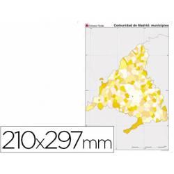 Mapa mudo de Madrid politico