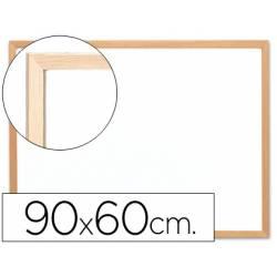 Pizarra Blanca laminada con marco de madera 90x60 Q-Connect