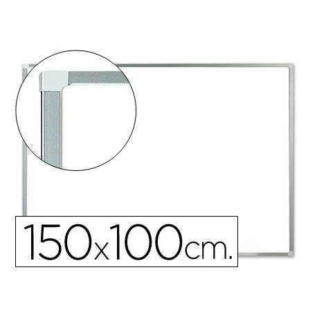 Pizarra Blanca laminada con marco de aluminio 150x100 Q-Connect