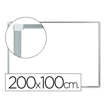 Pizarra Blanca Lacada Magnetica con marco de aluminio 200X100 Q-Connect
