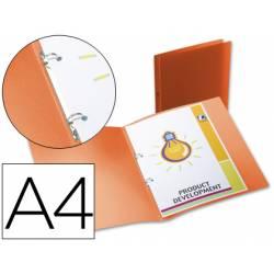 Carpeta de 2 anillas Beautone polipropileno lomo 17 mm naranja