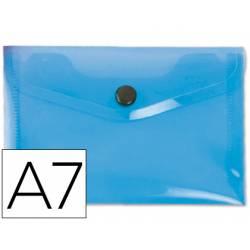 Carpeta sobre Liderpapel cierre broche azul Din A7