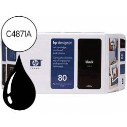 Cartucho HP 80 color Negro C4871A
