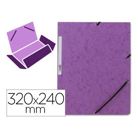 Carpetas de gomas carton prespan Q-Connect Din A4 violeta