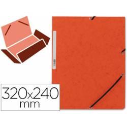 Carpetas de gomas carton prespan Q-Connect Din A4 naranja
