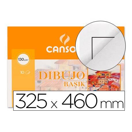Papel dibujo Canson din A3+ con recuadro 130 g/m2