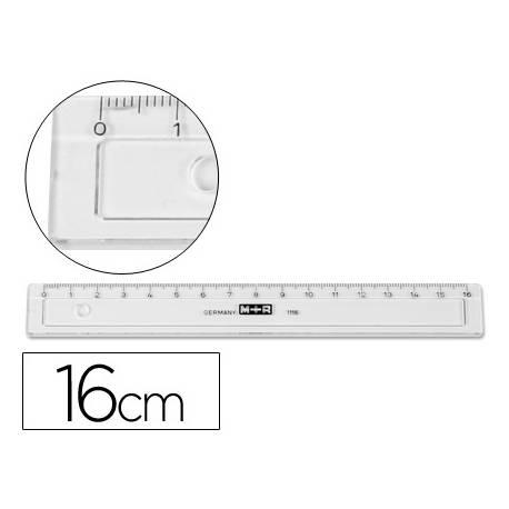 Regla de plastico 16 cm M+R