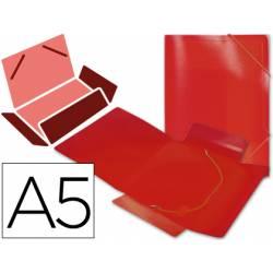 Carpeta lomo flexible gomas con solapas Liderpapel Din A5 color rojo