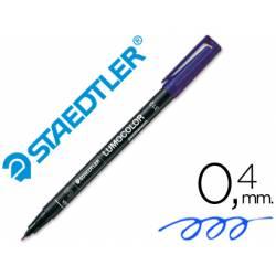 Rotulador Retroproyección Permanente Staedtler Lumocolor 313 Color Azul Punta Superfina Redonda
