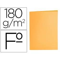 Subcarpeta cartulina folio Liderpapel color naranja