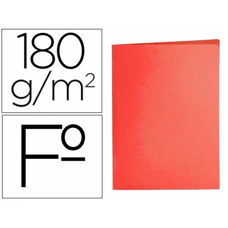 Subcarpeta cartulina folio Liderpapel color rojo