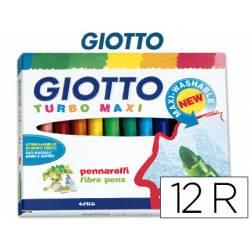Rotulador Giotto Turbo Maxi Punta Gruesa Lavable Caja 12 Rotuladores
