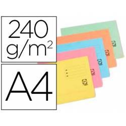 Subcarpeta de cartulina Elba Din A4 solapa y bolsa colores surtidos pastel 240gr