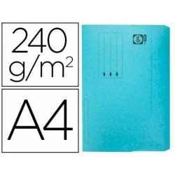 Subcarpeta de cartulina Elba Din A4 solapa y bolsa color azul pastel 240gr