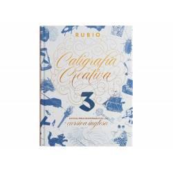 LIBRO DE CALIGRAFIA RUBIO CREATIVA 3 MANUAL PARA ENAMORADOS DE LA CURSIVA INGLESA 120 PAGINAS TAPA DURA