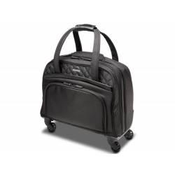 """Maletin para portatil Kensington Contour con ruedas señora contour 2.0 executive bal spinner 15,6"""" Negro/Rosa 44,5x43x20 cm."""