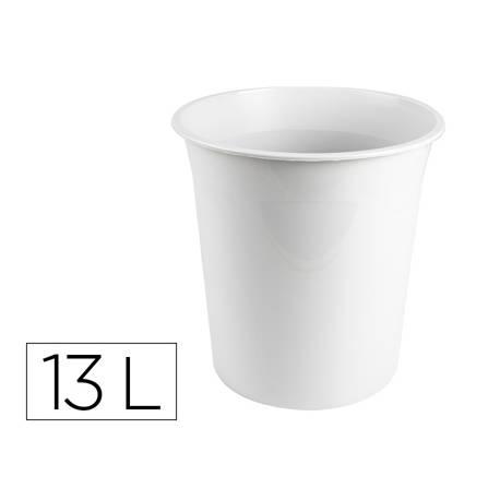 Papelera plastico q-connect gris opaco 13 litros.
